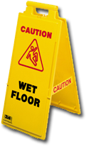 an image of a wet floor sign